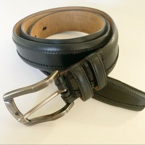 Mezlan | Black Leather Belt